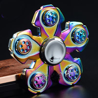اسپینر فلزی Focus Fidget Spinner اسپینر فلزی 5 پره رنگین کمانی