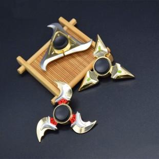اسپینر فلزی اسپینر فلزی سه پره طرح شمشیر - Sword Metal Blade Fidget Spinner