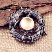 اسپینر فلزی Dragon Metal Fidget Spinner - اسپینر فلزی دایره ای طرح اژدها