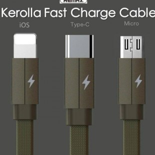 کابل شارژ 3 خروجی ریمکس REMAX KEROLLA Data Cable Lightning/Micro/Type-C RC-094th