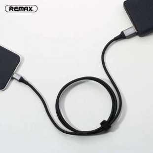 کابل شارژ چراغ دار لایتنینگ ریمکس REMAX EL Data Cable (Sound-Activated) 2.1A RC-133i