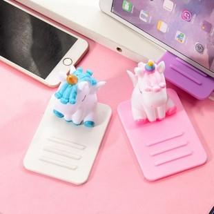 هولدر رومیزی سیلیکونی طرح یونیکورن Silicon Unicorn Mobile Holder