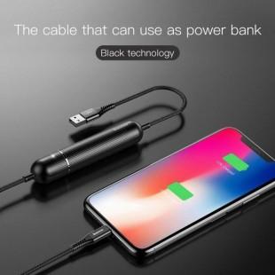 کابل شارژ و پاوربانک بیسوس Baseus Energy Two-in-one Power Bank Cable