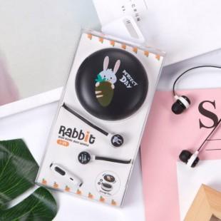 هندزفری طرح خرگوش و هویچ مناسب برای تلفن همراه و mp3 player
