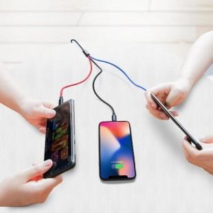 کابل شارژ 3 خروجی بیسوس Baseus Three Primary Colors 3-in-1 Cable