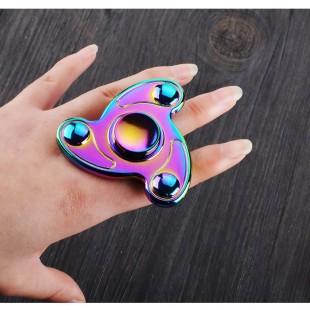 اسپینر Focus Fidget Spinner - فلزی سه پره رنگین کمانی