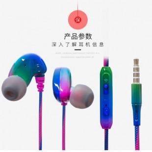 هندزفری رنگین کمانی مدل Rainbow Wire Handsfree T15