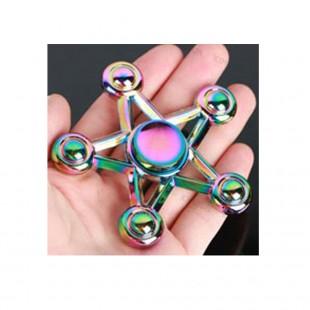 اسپینر اسپینر فلزی پنج پره رنگین کمانی - Colorful Metal Fidget Spinner