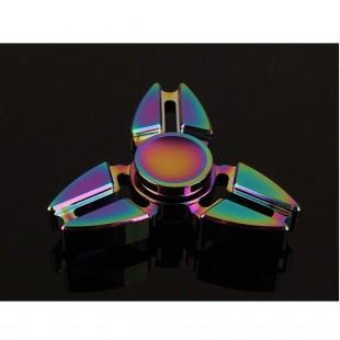 اسپینرفلزی سه پره رنگین کمانی - Colorful Metal Fidget Spinner