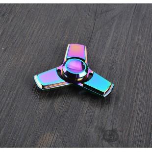 اسپینر  فلزی سه پره رنگین کمانی - Colorful Metal Fidget Spinner