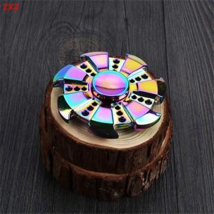 اسپینر  فلزی هفت پره رنگین کمانی - Colorful Metal Fidget Spinner