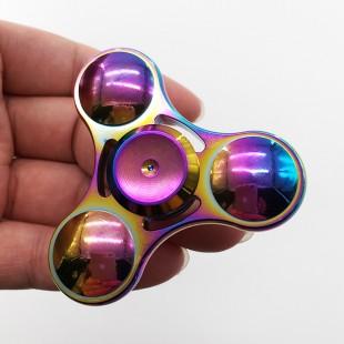 اسپینر Metal Colorfu Fidget Spinner - اسپینر فلزی سه پره رنگین کمانی