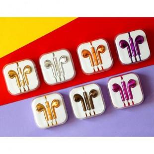 هندزفری رنگی براق طرح آیفون Apple Shiny Color Handsfree
