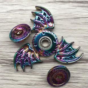 اسپینر فلزی 3 پر رنگین کمانی - Metal Luxury Fidget Spinner