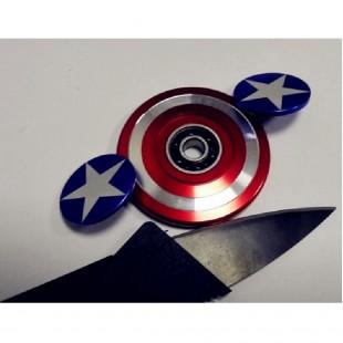 اسپینر Captain America Shield Fidget Spinner اسپینر فلزی کاپیتان آمریکاییل
