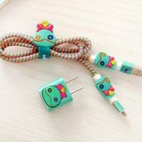 پک محافظ کابل پلاستیکی protective Toys محافظ کابل + برچسب شارژر آیفون فانتزی 10