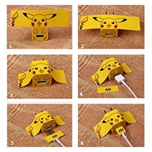 پک محافظ کابل پلاستیکی protective Toys محافظ کابل 2 + برچسب شارژر آیفون فانتزی