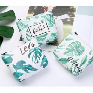 کیف هندزفری طرح برگ سبز