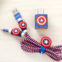 پک محافظ کابل پلاستیکی protective Toys Other محافظ کابل + برچسب شارژر آیفون ستاره