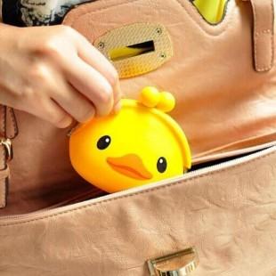 کیف هندزفری سیلیکونی جوجه اردک Duck Silicon Purse Coin