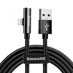 کابل صدا و شارژر لایتنینگ بیسوس Baseus Rhythm Bent Connector Audio and iP Cable 2A