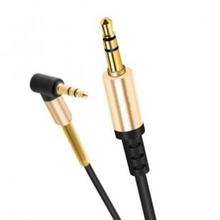 کابل صدا فلزي سر کج هوکو Hoco UPA02 Spring Aux 3.5mm Cable