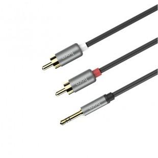 کابل صدا هوکو با دو خروجي Hoco UPA10 Double Lotus RCA Aux 3.5mm Cable