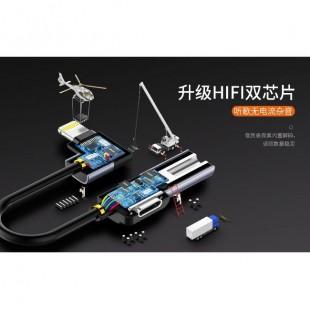 کابل تبديل 2 به 1 تايپ سي و صدا Joyroom S-M361 2in1 Type-C Audio Adapter