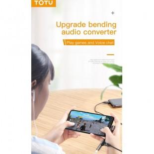 کابل تبديل 1 به 2 تایپ سی و صدا توتو TOTU EAUC-12 Type-C to Type-C+Aux 3.5mm