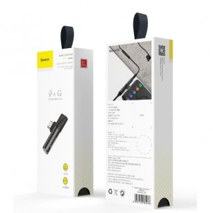 جک تبدیل تایپ سی به صدا و تایپ سی بیسوس Baseus L41 Type-C to Type-C female Connectors + 3.5 mm