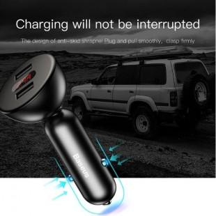 شارژر فندکی چرخشی با نمایشگر LED بیسوس Baseus 360° Rotation Car Charger