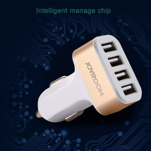 شارژر فندکی Joyroom C-M401 4 USB Adaptor Cable USB Car Charger شارژر فندکی 5v 4.2A جویرم