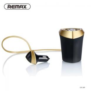 شارژر فندکی ریمکس با 2 خروجی فندکی و 3 خروجی USB با نمایشگر LED مدل CR-3XP