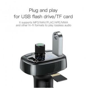 شارژر فندکی و FM Player بیسوس Baseus T typed Bluetooth MP3 Player