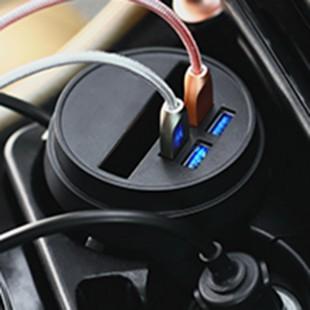 شارژر فندکی Joyroom cup holder 4 usb charging Lightning Cable Adaptor لیوان فندکی 4 پورت یو اس بی