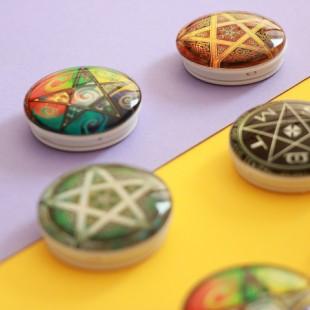 پاپ سوکت کریستالی طرح دار مثلثی Triangle Crystal POP Socket
