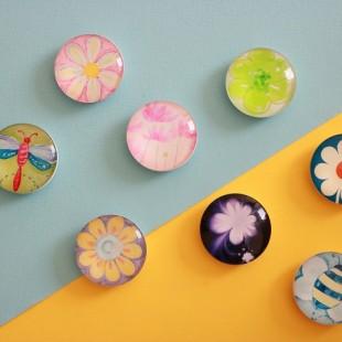 پاپ سوکت کریستالی طرح گل Flower Crystal POP Socket