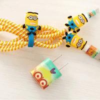 پک محافظ کابل پلاستیکی protective Toys Other محافظ کابل + برچسب شارژر آیفون مینیون