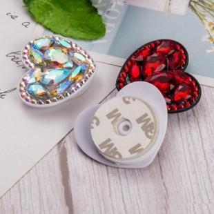 پاپ سوکت نگین دار طرح قلب Diamond Heart Pop Sockets