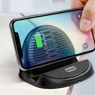 شارژر وایرلس استندی بیسوس Baseus 10W Qi Wireless Charger
