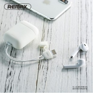 کابل شارژ و کاور ژله ای ایرپاد Remax Cole Protective Cover for Airpods Charging Case RC-A6