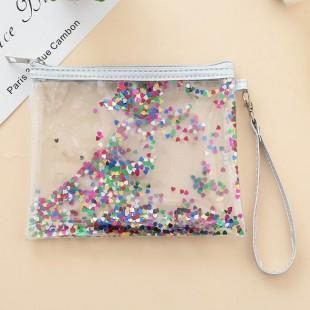 کیف آرایشی آکواریومی Glitter Makeup Bag