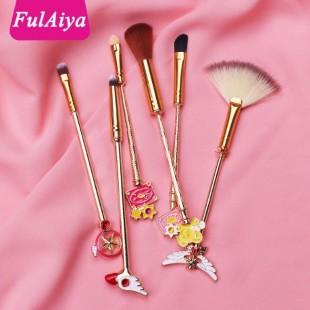 ست براش آرایشی دسته فلزی ساکورا Sakura Brush Set