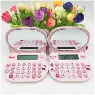 ماشین حساب فانتزی طرح هلوکیتی آینه ای Hello Kitty KT-115 Calculator