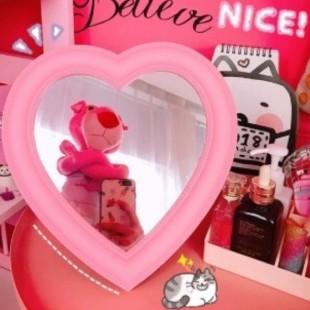 آینه رومیزی قلبی