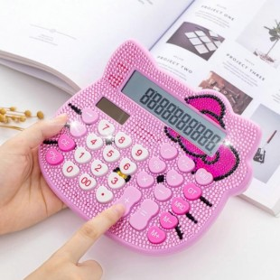 ماشین حساب فانتزی طرح هلوکیتی نگین دار Hello Kitty KT-3388 Calculator