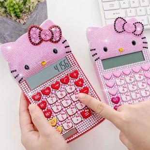 ماشین حساب فانتزی طرح هلوکیتی نگین دار Hello Kitty XD-1108 Calculator