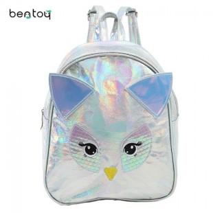 کوله پشتی هولگرامی طرح جغد OWL Hologram School Bag