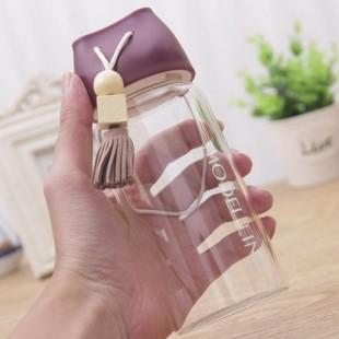 بطری آب شیشه ای بنددار