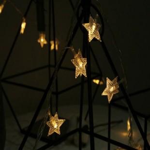 ریسه 3 متری طرح ستاره با 20 چراغ نور آفتابی